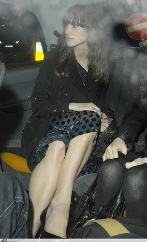 leaving the Kettners restaurant in Soho