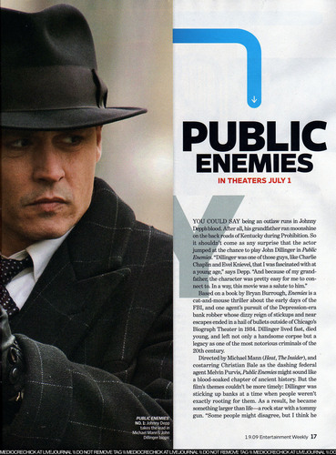 Jan. 2009 Entertainment Weekly magazine artikel