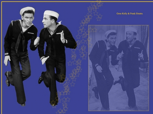 Frank Sinatra and Gene Kelly Wallpaper