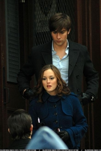 Leighton Chase and Ed on set
