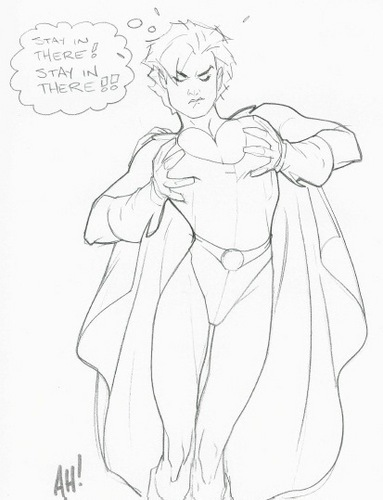 Power Girl Wardrobe Malfunction
