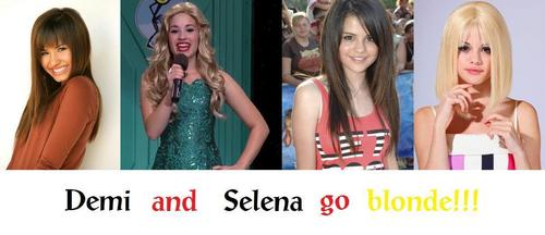 Demi and Selena go blonde!!!