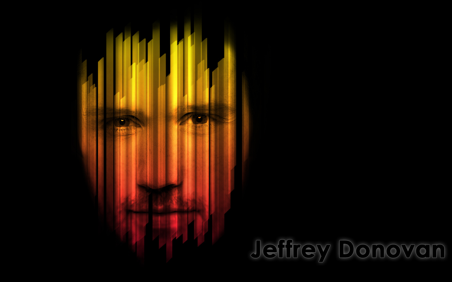 Jeffrey Donovan Retro Wallpaper - Black BG
