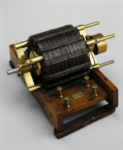 Tesla's Working Model of His Induction Motor