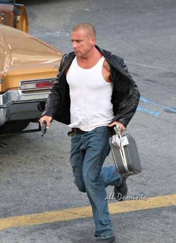 Dominic On Set Of Prison Break <3