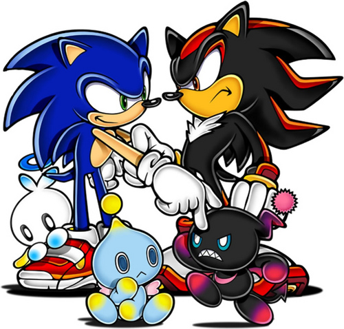 Sonic and Shadow(down chao lolz)