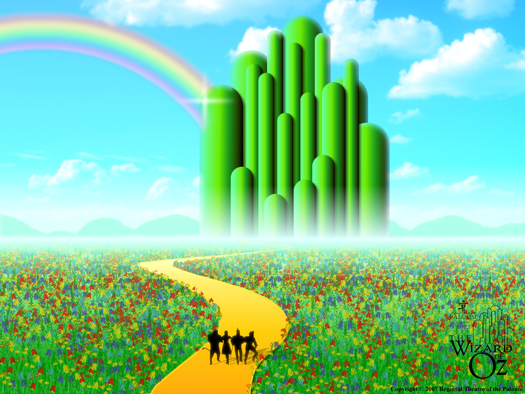 Emerald City Wallpaper The Wizard Of Oz Wallpaper 5276005 Fanpop