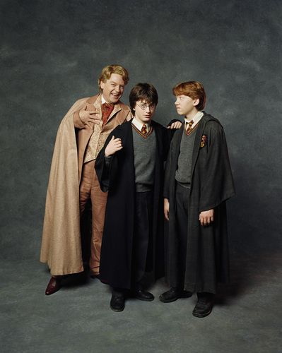 Professor Lockhart,Harry Potter & Ron Weasley
