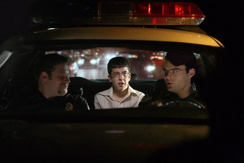 Superbad: Fogell with Officers Slater & Michaels