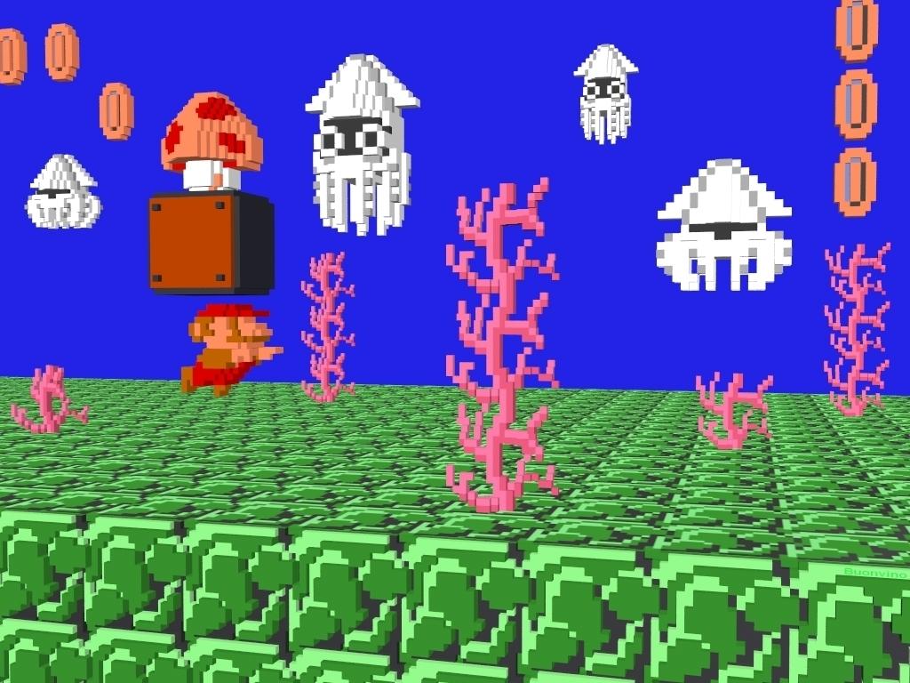 Mario Pixel 3d Super Mario Bros Wallpaper 5433549 Fanpop
