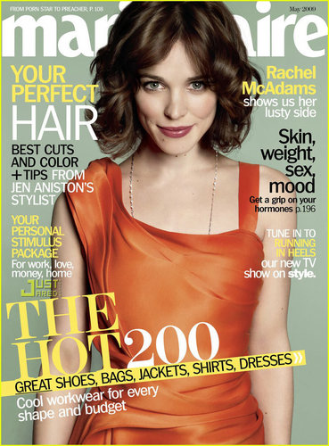 Rachel McAdams Covers Marie Claire May 2009