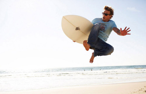 Simon Baker beach, pwani Photoshoot