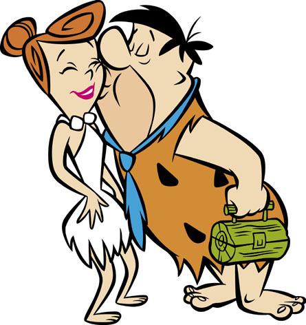 Fred and Wlima Flintstone