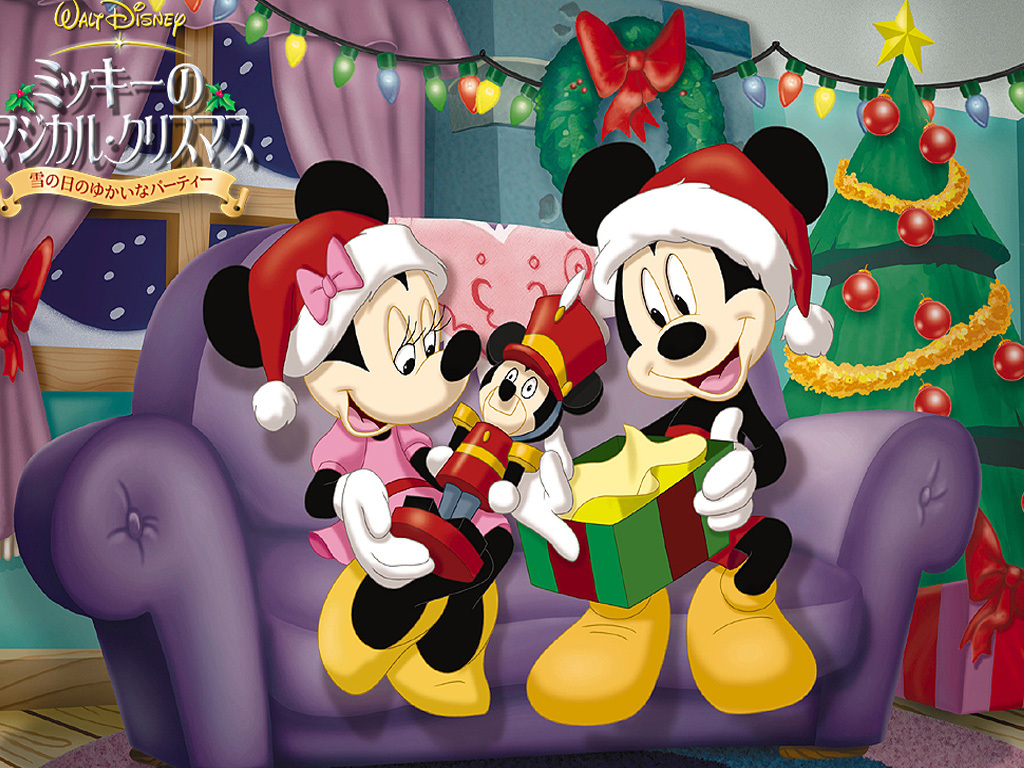 Mickey And Minnie Christmas Wallpaper Mickey And Minnie