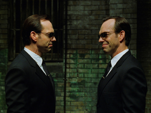 The Matrix achtergrond Agent Smith