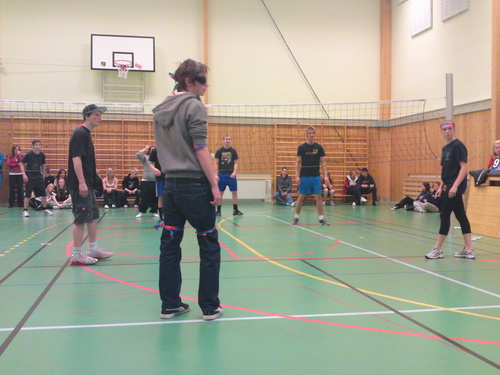 my class at a volleyball-tournament in school