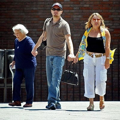 Leo with grandma' and mom Irmelin DiCaprio