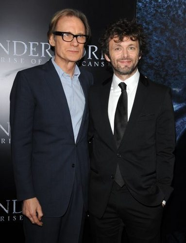 Michael Sheen and Bill Nighy at the Underworld Rise of the Lycans Premiere