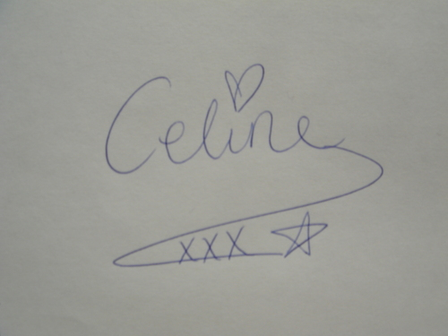 My celebrity autograph (for when I ever become famous, you never know :D :D)