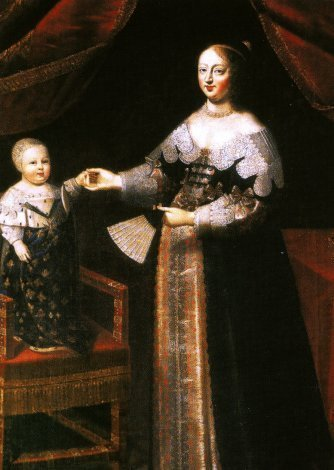 Anne of Austria with her son Louis XIV