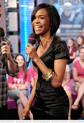 Michelle visits MTV's TRL
