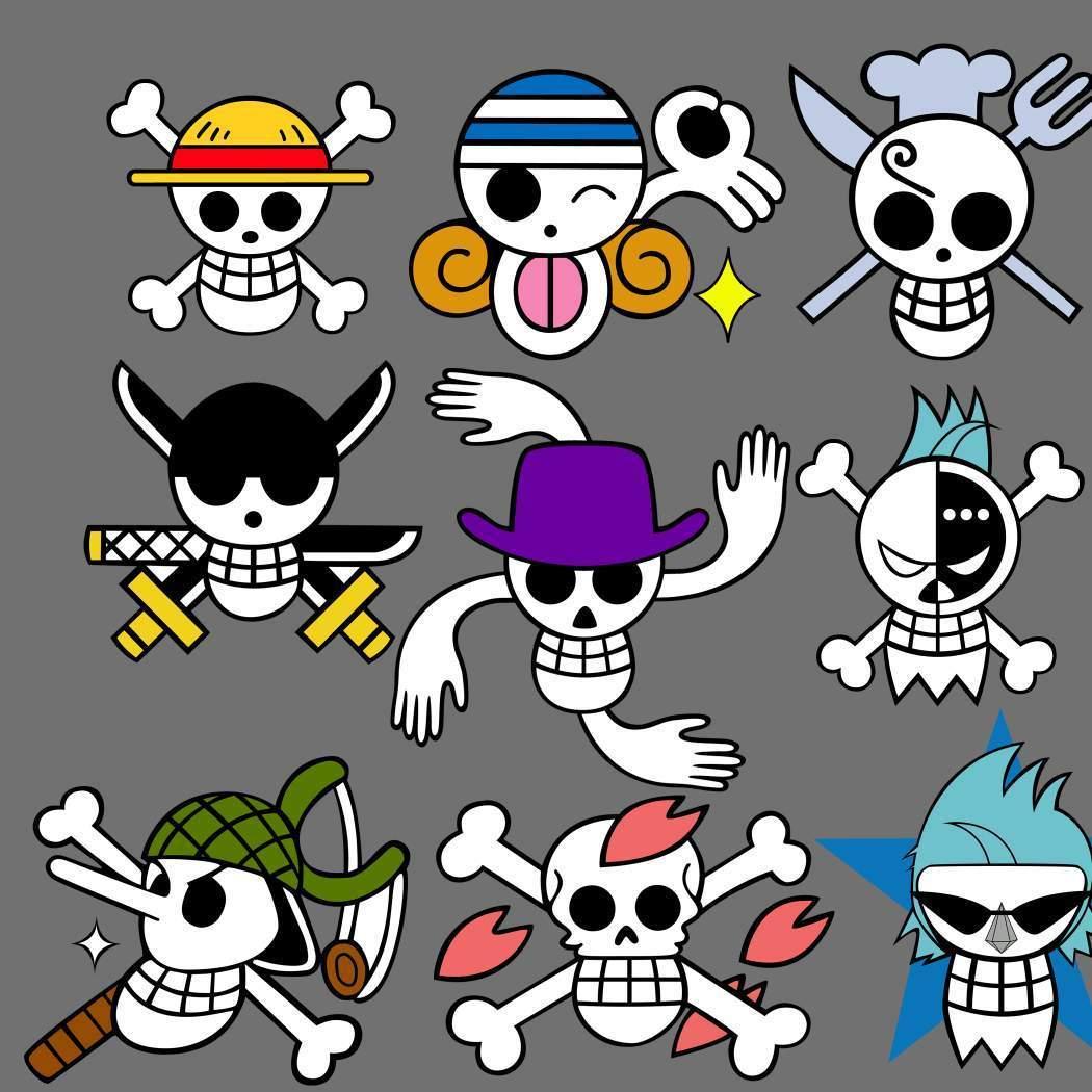 Straw Hat's Crew Jolly Roger - One Piece Photo (5885384 ...