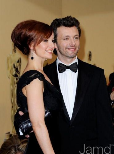 Michael Sheen and Lorraine Stewart at the Academy Awards