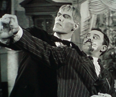 Lurch and Gomez Addams