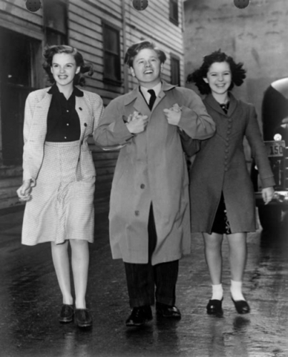 Shirley Temple with Judy Garland and Mickey Rooney