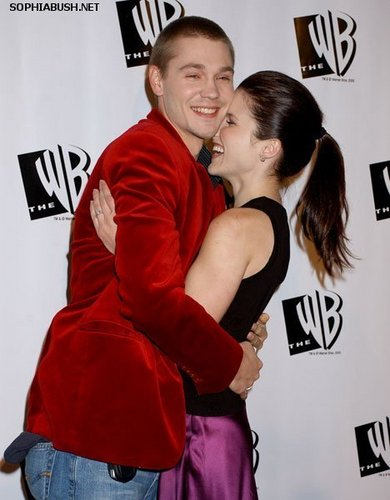Sophia arbusto, bush and Chad Michael Murray at the The WB 2005 All estrela Party