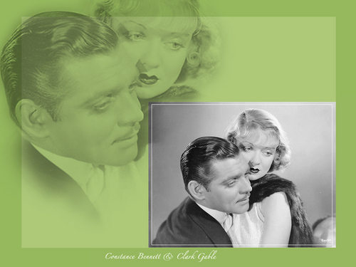 Clark Gable and Constance Bennett