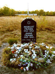 The grave of her and Margot