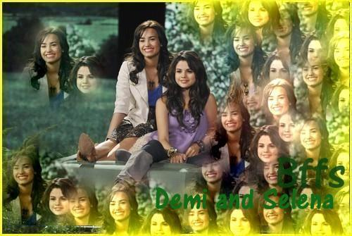 demi and selena disney friends for a change changed pic