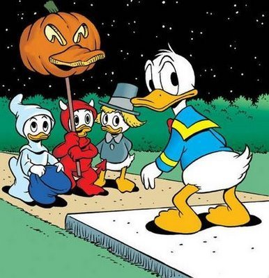 Donald Duck on Halloween