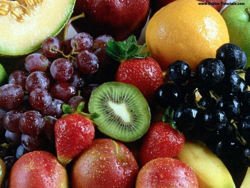 Variety of Fruit Wallpaper