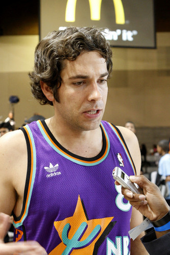 Zachary Levi Playing in the 2009 McDonald's All-Star Celebrity basketbal Game