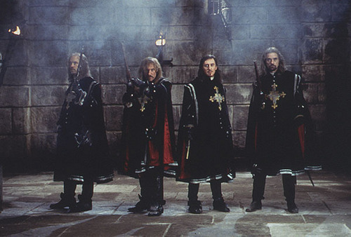 The Musketeers, Athos, Porthos, D'Artagnan and Aramis