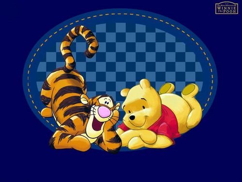 Winnie the Pooh and Tigger Wallpaper