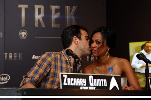 Zoe and Zack at ster Trek Press Conference