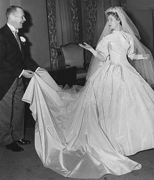 Elizabeth montgomery,In Her Wedding Dress