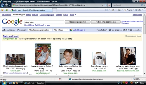 Celine on google (as Naley baby's)