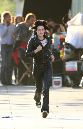 Kristen in Joan Jett leathers