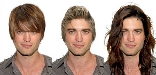 rob with diff hair styles