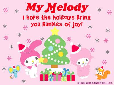 My Melody Christmas e-Card - My Melody Photo (6973641 ...