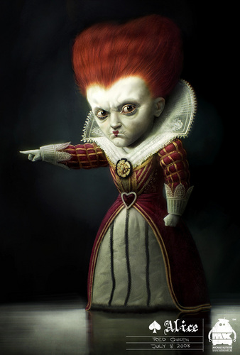 Early Alice in Wonderland Concept art - the Red reyna