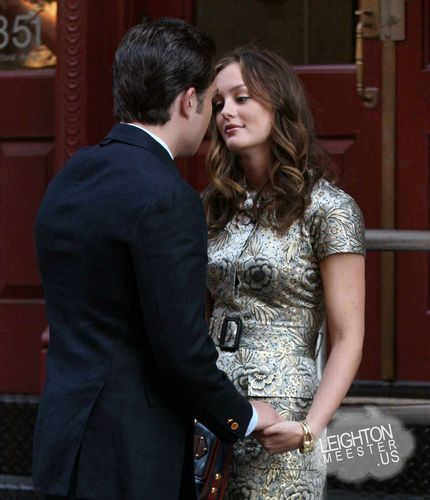 Ed and Leighton filming a CB scene (season3)