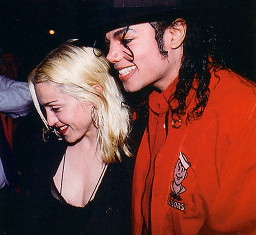 Michael & madonna at the Ivy