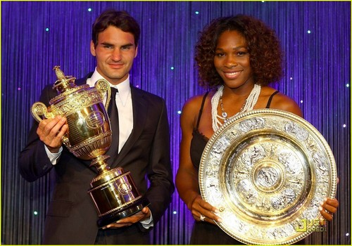 Roger take his trophy