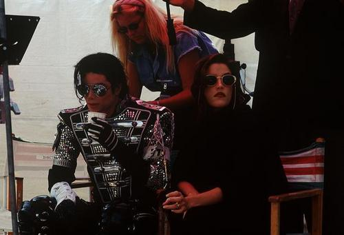 Michael with Lisa Marie Presley