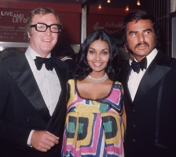 Michael and shakira Caine with Burt Reynolds